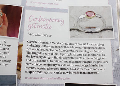 Cornwall Living, Marsha Drew Jewellery