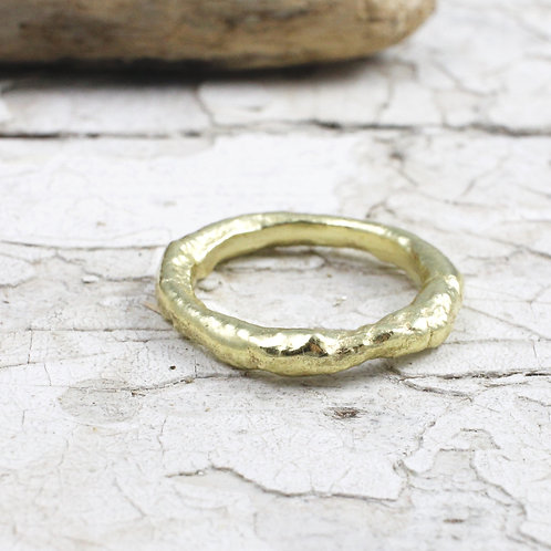 18k Gold Rustic Ring