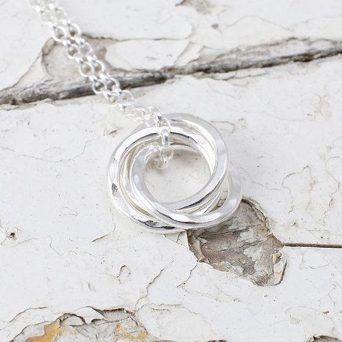 Three Interlocking Circles Necklace