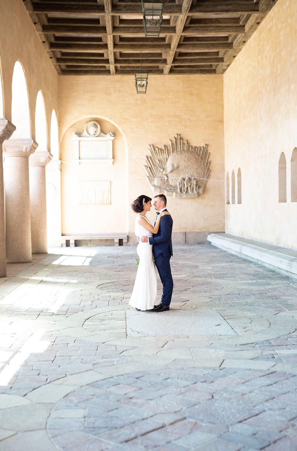 Bröllopsfotograf stadshuset