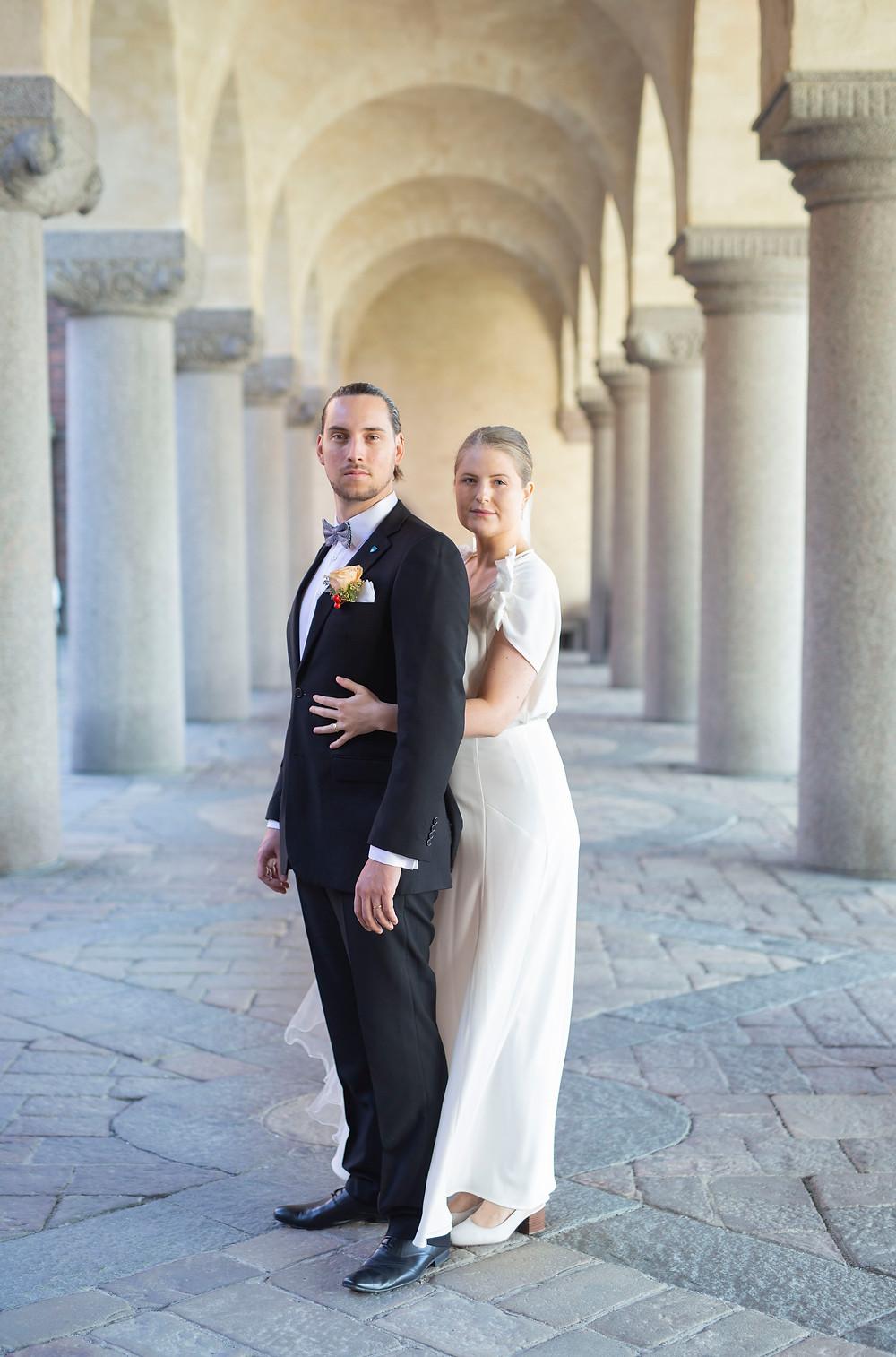 Bröllopsfotograf stadshuset stockholm