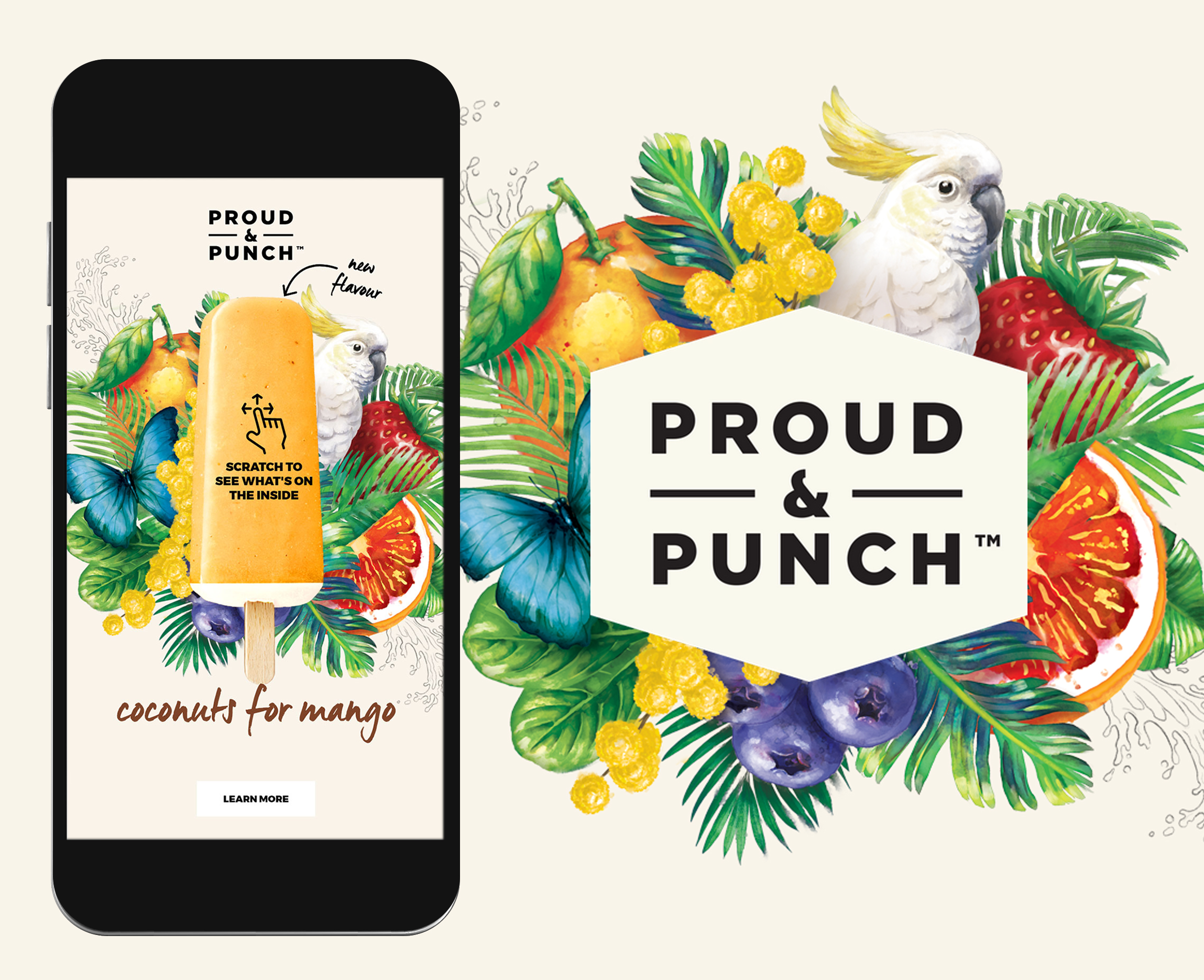 Proud Punch scratch interactive ad