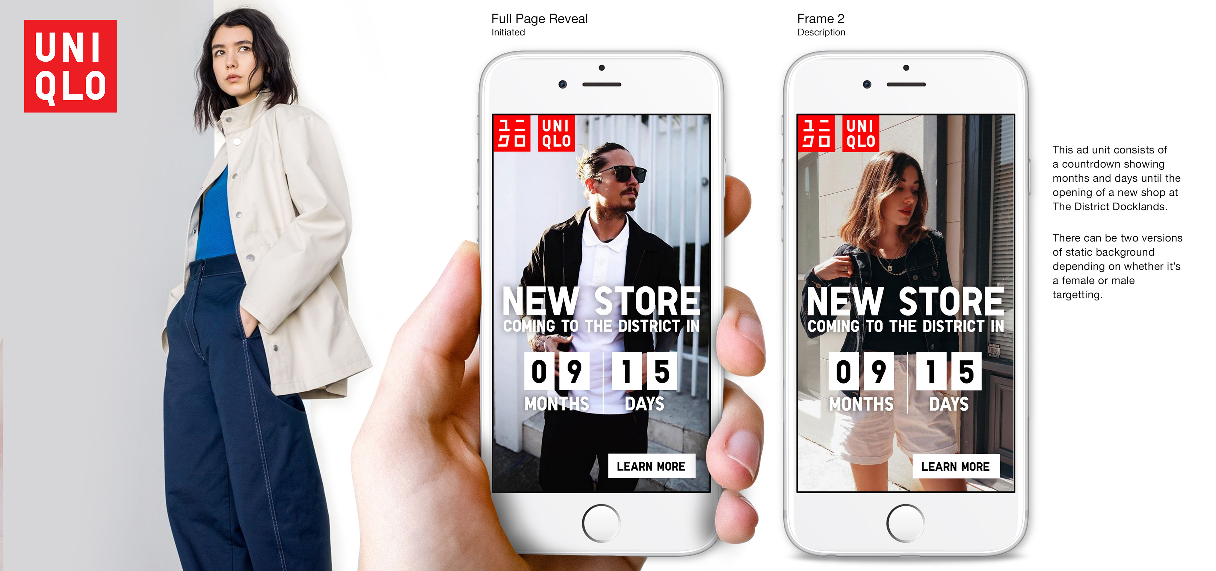 UNIQLO countdown timer