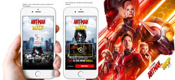 Ant Man interactive mobile ad