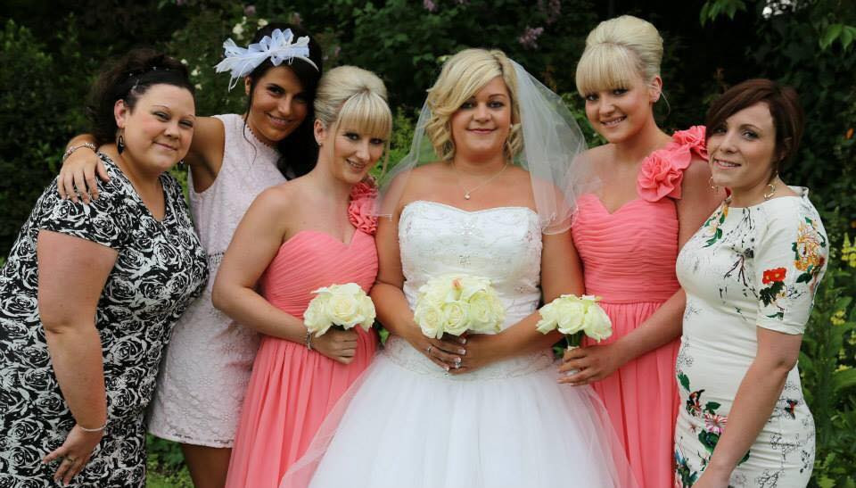 Bride Laura with her maids