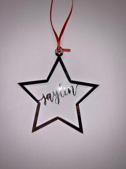 Star Cutout Ornament