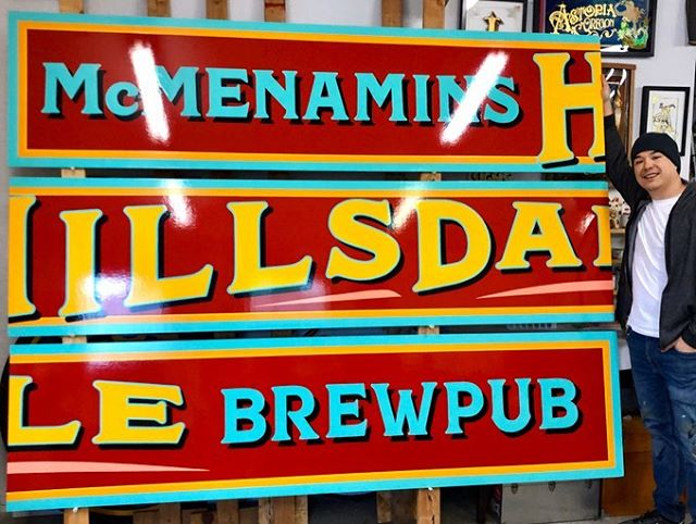 Hand painted signs for McMenamins