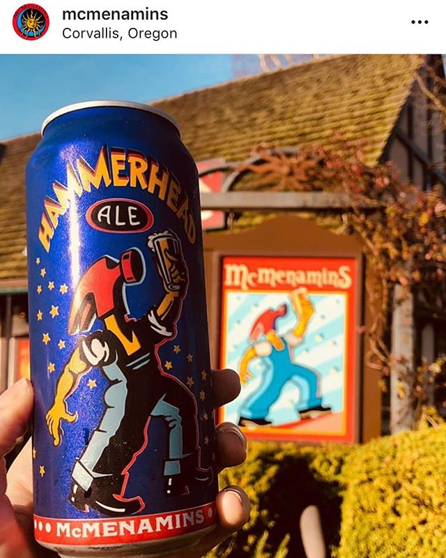 Repost from @mcmenamins showcasing their new signs and beer cans