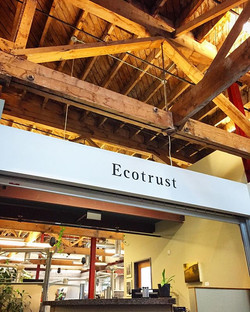 Hand painted lettering for Ecotrust