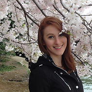 Smiling with the cherry blossoms