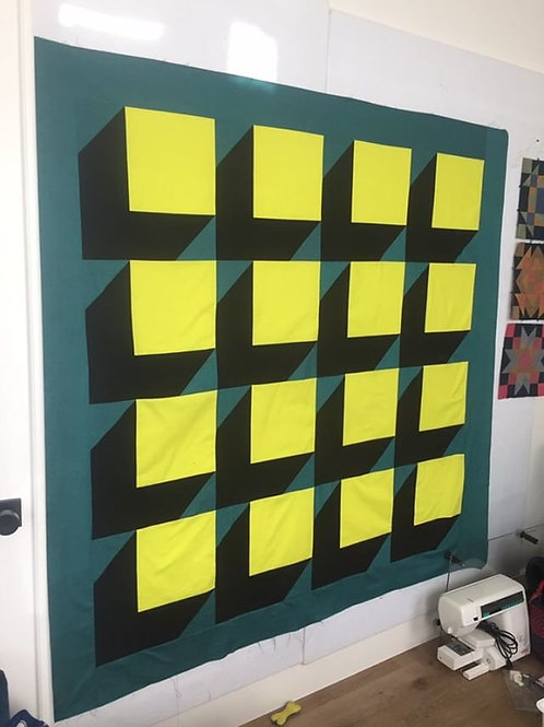push the button quilt pattern