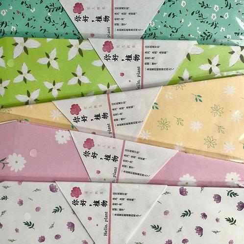 flower envelope 5pk