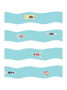 Les petis nageurs
