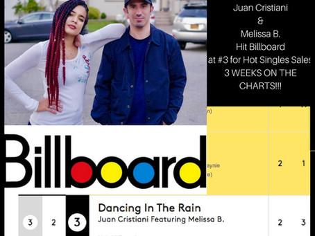 "Melissa B. & Juan Cristiani Hit Billboard charts at #3 ""Hot Single Sales"" 3 Weeks on Charts"