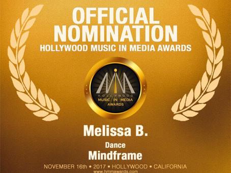 """Melissa B. Nominated for HMMA Awards for """"Mindframe"""""""
