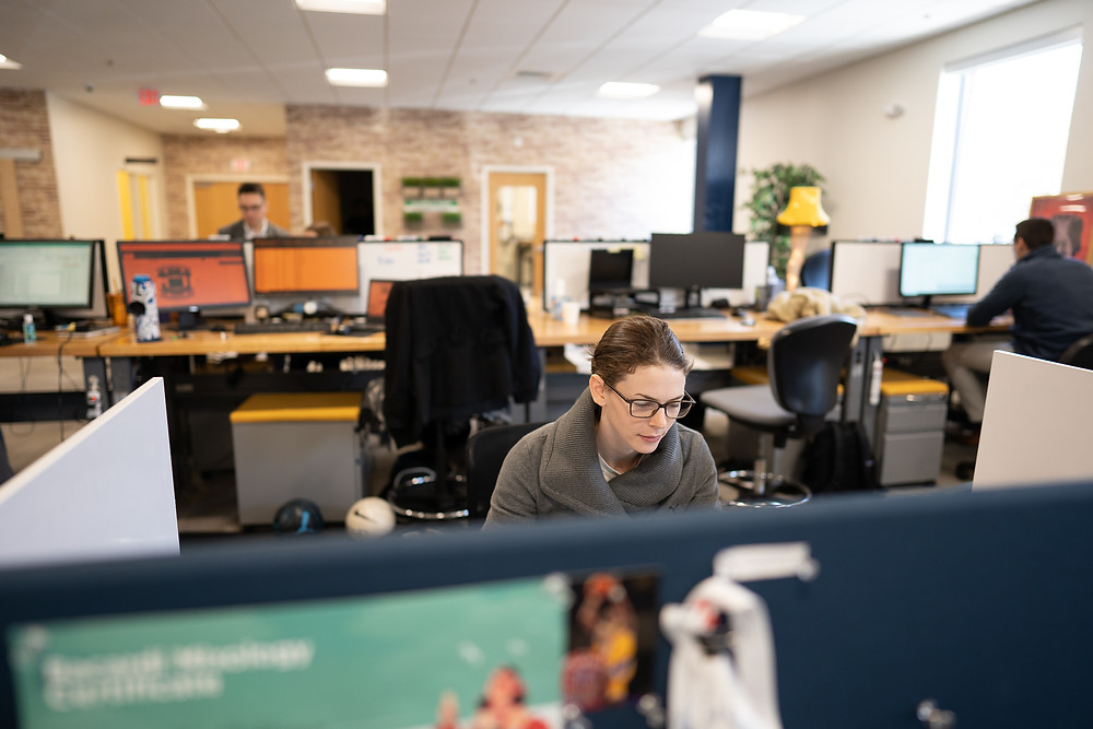 Corinne Boyles at her desk