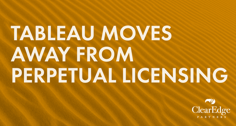 Tableau Moves Away From Perpetual Licensing