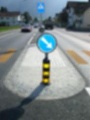 Klemmfix, Inselschutzpfosten, Verkehrsinsel, Roadmarker, Signalisation