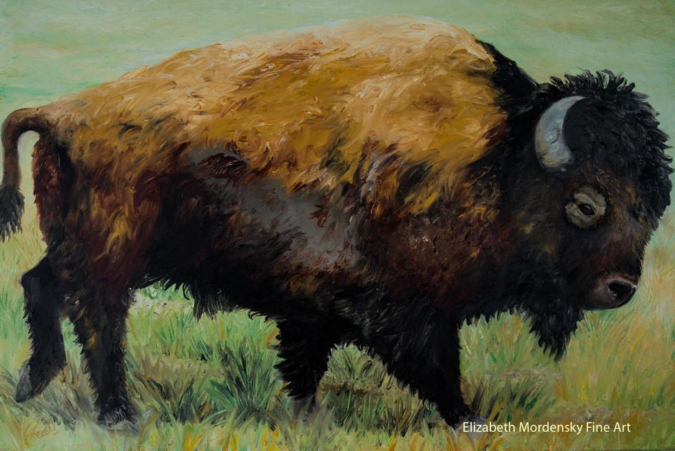 Lone Bison: Original SOLD