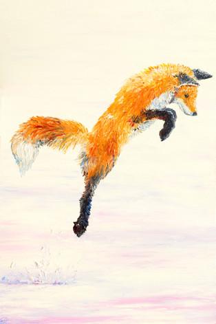 Fox Hunt Triptych (2) SOLD