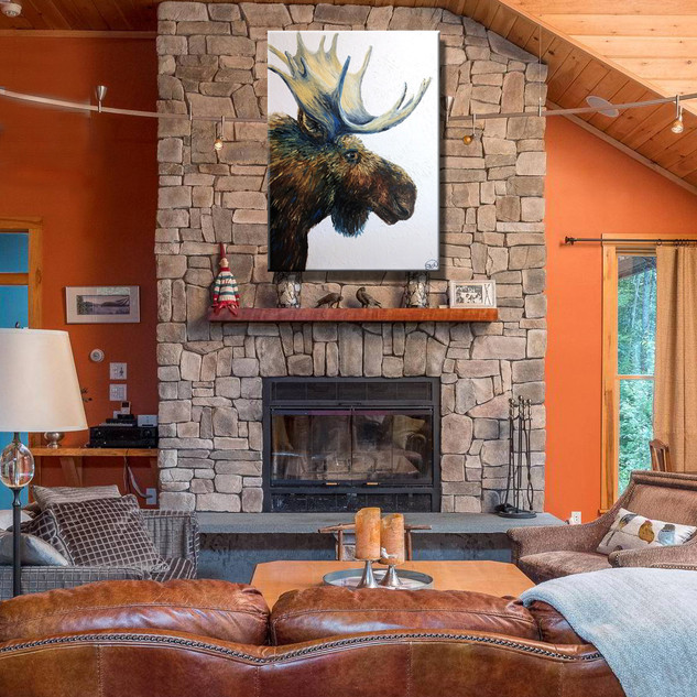 Contemporary Moose Painting