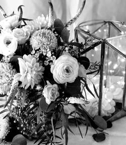 wedding flowers and terrarium