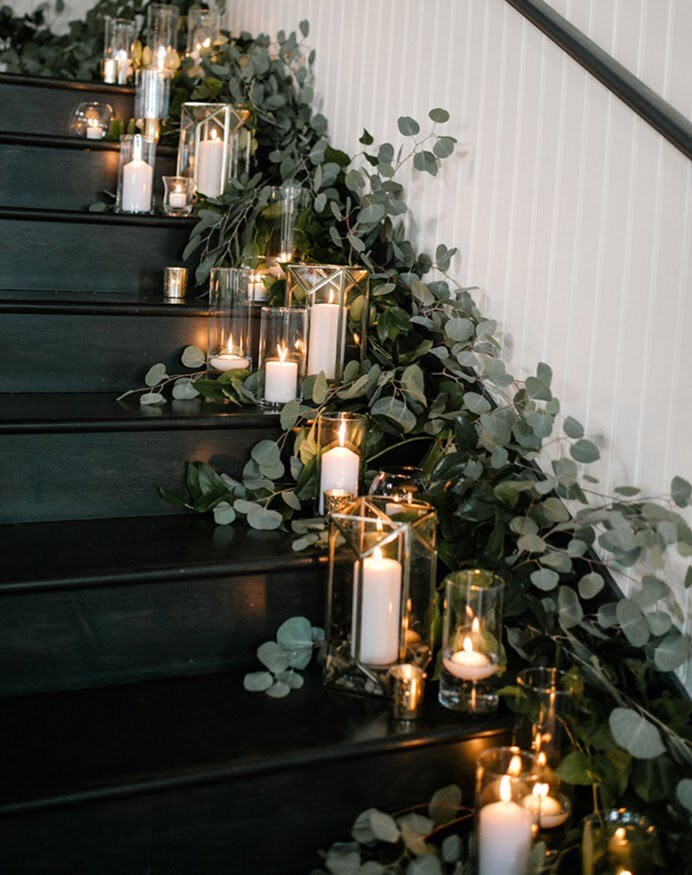 wedding stair decor Evergreen PDX