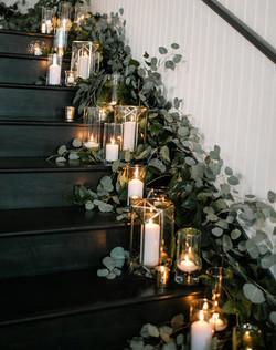 wedding stair decor Evergreen PDX