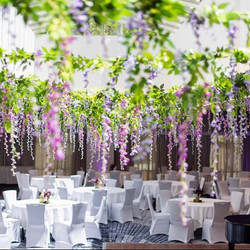 How do you turn an indoor wedding venue