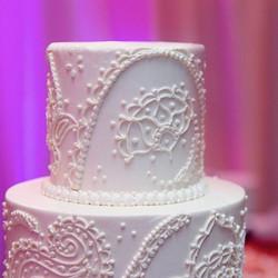 Henna style wedding cake