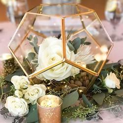 gold rimmed terrarium centerpieces
