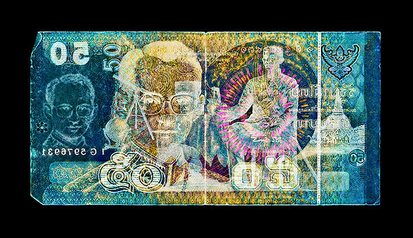 David LaChapelle, Negative Currency: 50 Baht Used As Negative, 1990-2017