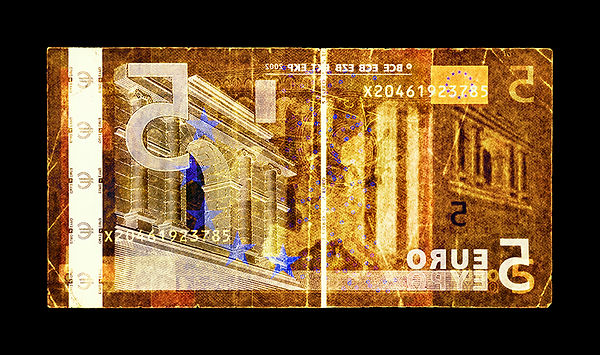 David LaChapelle, Negative Currency: Five Euro Used As Negative, 1990-2017