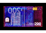 David LaChapelle, Negative Currency: Two  Euro Used As Negative, 2017 ​