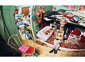 David LaChapelle, A Person Confined Indoors Due To Illness or Infirmity, Mott St., Chinatown, 2001