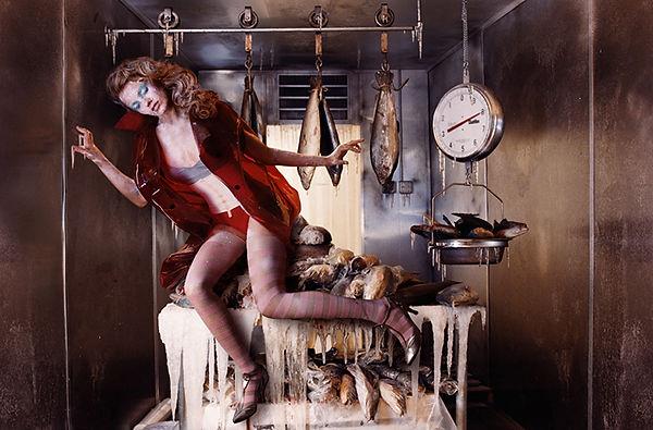 David LaChapelle, Figure with Frozen Fish, 2004