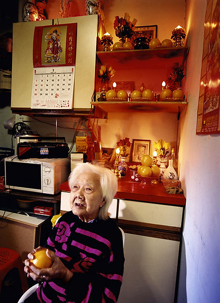 David LaChapelle, A Person Confined Indoors Due To Illness or Infirmity, Doyer St., Chinatown, 2001