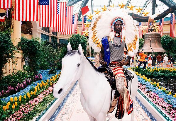 David LaChapelle, Indian on Horse, 2003