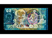 David LaChapelle, Negative Currency: 50 Baht Used As Negative, 2015