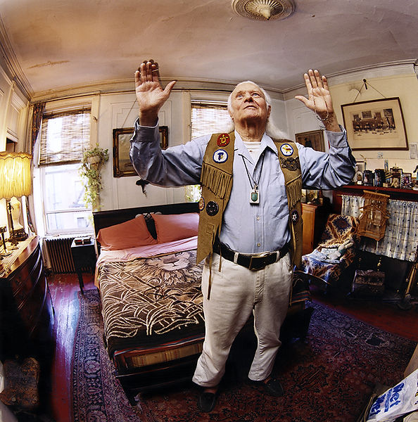 David LaChapelle, A Person Confined Indoors Due To Illness or InFirmity, Charles St., West Village, 2001