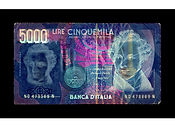 David LaChapelle, Negative Currency: 5000  Lira Used As Negative, 2010