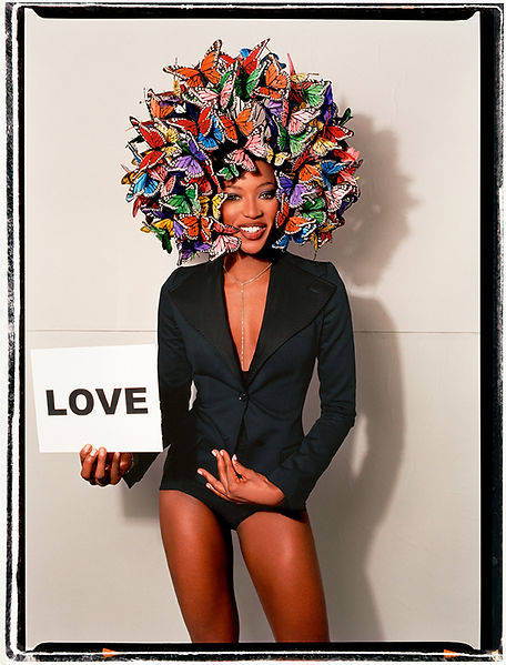 David LaChapelle, Untitled (Naomi Cambell Love & Butterflies), 2003