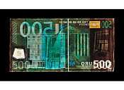 David LaChapelle, Negative Currency: Five Hundred Euro Used As Negative, 2017