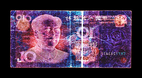 David LaChapelle, Negative Currency: 10 Yuan Used As Negative, 1990-2017