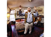 David LaChapelle, A Person Confined Indoors Due To Illness or Infirmity, Charles St., West Village, 2001 ​