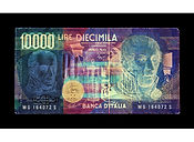 David LaChapelle, Negative Currency: 10000  Lira Used As Negative, 2010