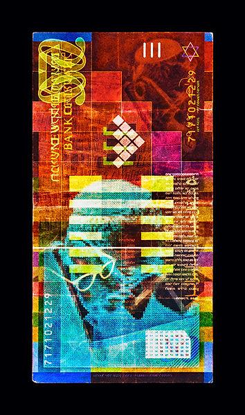 David LaChapelle, Negative Currency: 50 Shekel Used As Negative, 1990-2017
