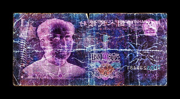 David LaChapelle, Negative Currency: 1 Yuan Used As Nagative, 1990-2017