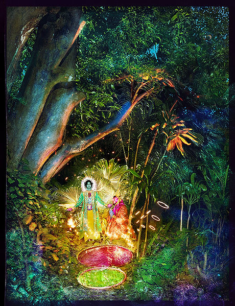 David LaChapelle, Jesus and Buddha Under a Tree, 2015