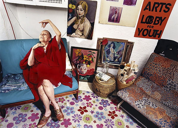 David LaChapelle, A Person Confined Indoors Due To Illness or Infirmity, West 9th St., 2001